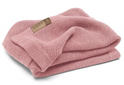 Mantita Bugaboo lana merino en color rosa